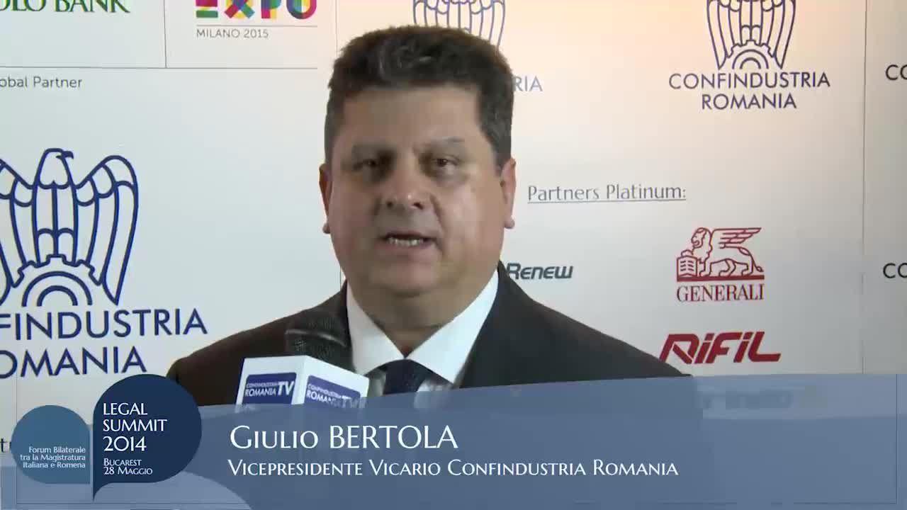 Intervista a Giulio Bertola – Vicepresidente Vicario Confindustria Romania