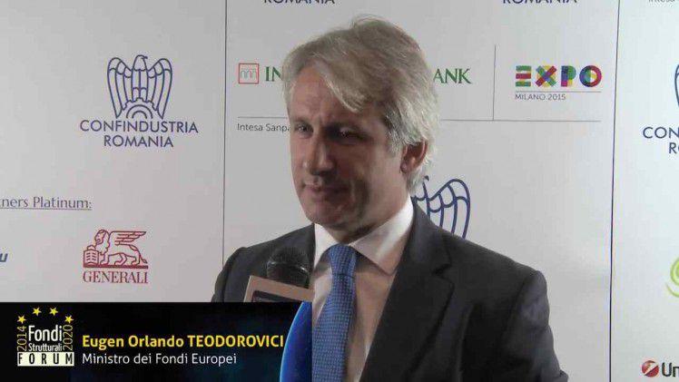 Intervista a Eugen Orlando Teodorovici  (Forum Fondi Strutturali 2014-2020)