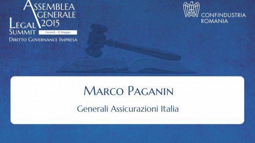 Intervento di Marco Paganin, Generali Assicurazioni Italia