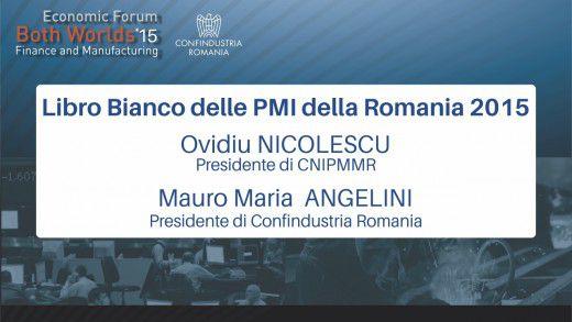 Lancio del Libro Bianco delle PMI della Romania 2015 – Both Worlds 2015